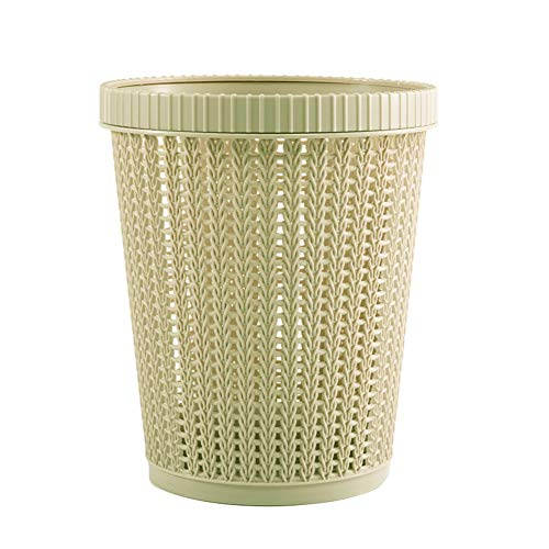 Shotbest Trash Can,Hollow Garbage Bin Space Saving, Materials Storage Basket with Built-in Garbage Bag Box Coverless for Home
