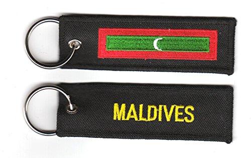 FLAGGENMAE Schlüsselanhänger Malediven Anhänger Fahne Flagge