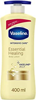Vaseline Body Lotion Essential Healing with pure Oat extracts, non-greasy formula, heals dry skin,400ml