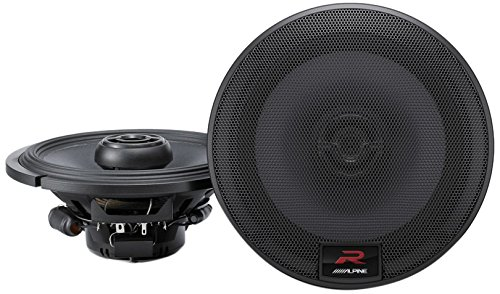 Alpine R-Series 6.5 Inch 300 Watt Coaxial 2-Way Car Audio Speakers, Pair | R-S65