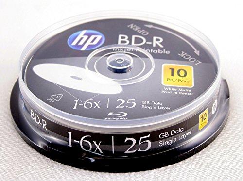 HP BD-R 6X 25GB 10PK Cake Box White Inkjet Printable