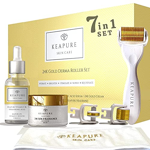 Derma Roller Kit for Face, Body, Stretch Marks - 540 Microneedle...