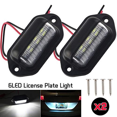 2 Unids LED Placa de Matrícula Etiqueta de Luz Universal 6 SMD2835 Conveniencia Cortesía Puerta Paso Luz de la lámpara para Remolques RV camiones