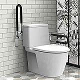 EEUK Asa de Seguridad para Baño y WC, Arco Barra Abatible Baño, Doble Barra de Seguridad, Ayuda de Baño para Ancianos y Minusválidos para Ancianos, Heridos