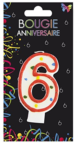 Aptafetes - Bougie anniversaire 6