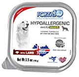 Forza10 Wet Dog Food Actiwet Hypoallergenic Canned Dog Food Wet Lamb Flavor, for Adult Dogs with Skin Issues, 32 Pack Case of 3.5 Ounce Each