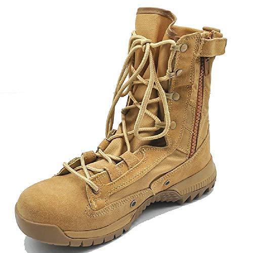 TAOBEGJ Botas De Desierto para Hombre Entrenamiento Militar Bota Caza En La Selva Botas Senderismo Transpirables Al Aire Libre Botas Altas Ligeras Zapatos De Patrulla Policial,41