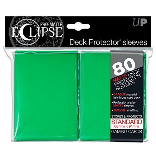 Ultra Pro Deck Pro Eclipse E-85251 Schutzhüllen für Sammelkarten, Mattes Grün, 80Stück