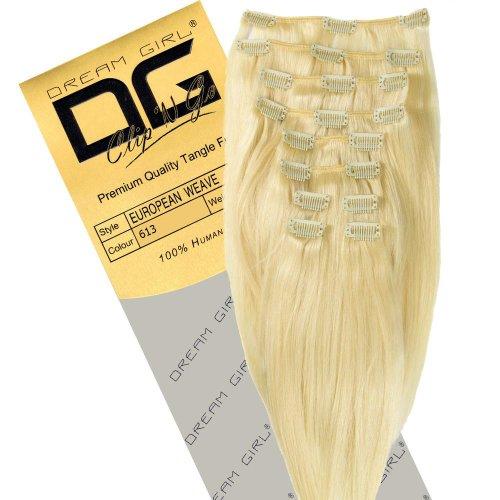Dream Girl Extensions capillaires à clipser Couleur 613 35 cm