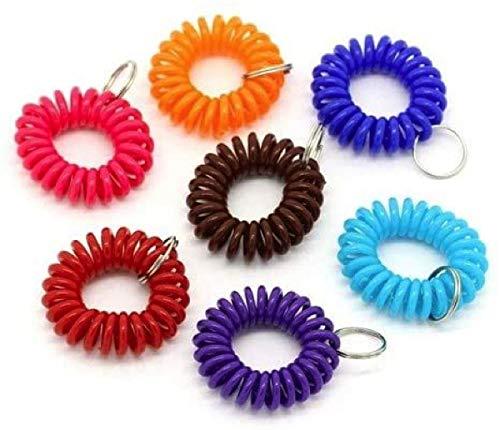 CKB LTD  20 soportes de plástico para llaves de gimnasio, para correr, natación, muñequeras y anillo dividido
