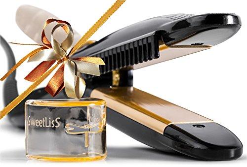 SweetLisS - Lisseur Libellule - Fer à lisser et à boucler avec Peigne intégré