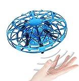 JCT Dron para Niños Mini Drone UFO Flying Ball para Niños de 4-10 Nños Juguetes Voladores Controlados A Mano, Bola De Helicóptero Rotación de 360 ° y Luces LED Niños Niños Niñas Juguetes (Azul)