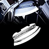 Chrome Lower Triple Tree Wind Deflector For Harley 2014-2018 Touring Street Glide