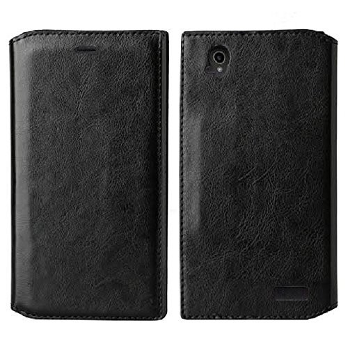 SOGA Cover Compatible ZTE Warp Elite Case, ZTE Warp Elite Wallet Case – [Pocketbook Series] PU Leather Folio Flip Wallet Case for ZTE Warp Elite N9518 (Boost Mobile) - Luxury Black