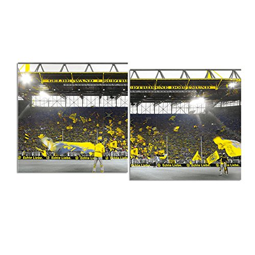 """Borussia Dortmund Kunstdruck """"Südtribüne"""" 100x50 cm one Size"""