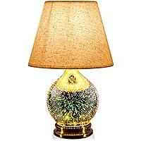 Porseme Handmade 3D Effect Glass Base Bulb Included Modern Lamp