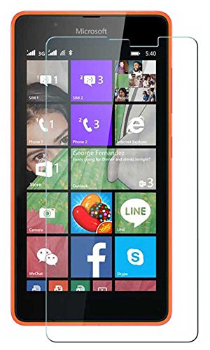 Microsoft Nokia Lumia 540 Curved Tempered Glass Screen Protector by GAX, Ultimate Shield Protector, scratch free Screen Guard HD+ 9H Hardness Toughened Tempered Glass Screen Protector for Microsoft Nokia Lumia 540