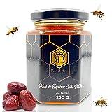 Miel de Sidr del Yemen Pura Miel de Jujube en bruto Miel de Sidr en bruto Royal 250g Natural - Energizante - 1 cuchara de madera Natural Biodegradable