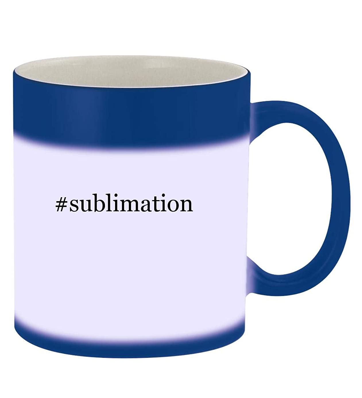#sublimation - 11oz Hashtag Magic Color Changing Mug, Blue