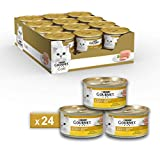Purina Gourmet Gold Umido Gatto Mousse con Pollo, 24...