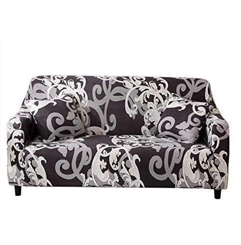 Funda de sofá extraíble de Monba, elástica y estampada con patrón de flores, ideal para decoración y proteger tu sofá, 1, 2, 3 o 4 plazas, poliéster, #2, 1 Seater:90-140cm