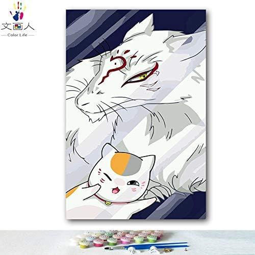 ventas en linea KYKDY Dibujos para Colorar de de de DIY por números con Colors Cuenta de amigos de Natsume Dibujo de anime pintura por números enmarcados Inicio, 8170,60x75 sin marco  te hará satisfecho