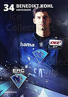 (CI) Benedikt Kohl Hockey Card 2015-16 German Ingolstadt ERC Postcards 13 Benedikt Kohl