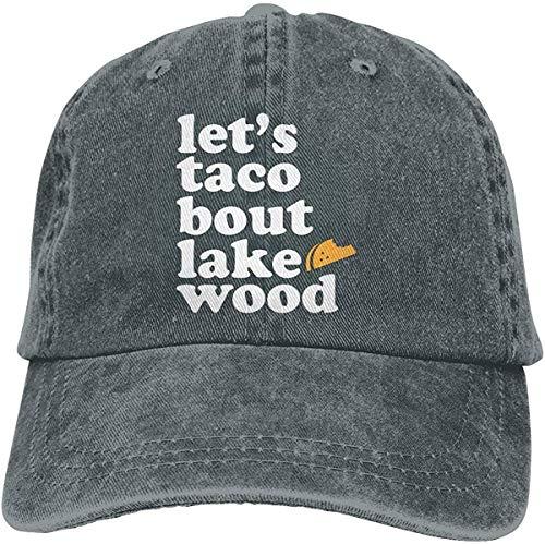 IIFENGLE Gorra de béisbol Retro para Adultos Sombrero de Vaquero Deportivo Unisex Sombrero de Camionero al Aire Libre Let's Taco Bout Lakewood Tacos