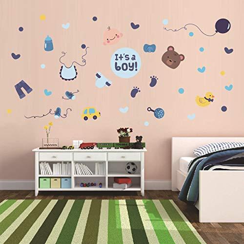 ZYLBL Pegatinas de pared para habitación de niños, sala de estar, dormitorio, oficina, habitación de niños, decoración de bonito papel pintado de dibujos animados para instalar simplemente 2 piezas