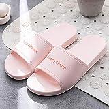 Zapatillas de Ducha para Mujer EVA,Cremallera de Piel Suave Suave, Sandalias de baño Antideslizantes-Pink_40-41,D1