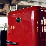 Vintage Industries ~ Retro-Kühlschrank Havanna in rot   50er Jahre Look   Größe 152,5 cm   Kühl-Gefrier-Kombination 302l   Getränke-Kühlschrank mit Gefrierfach/Gefrierschrank 21l - 3
