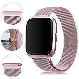 Onedream Bracelet pour Fitbit Versa/Versa Lite - Bracelet Metal en Acier Inoxydable...