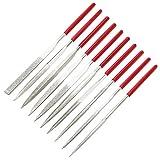 10-Piece Mini Diamond Needle File Set (6' Total Length 150 Grit Diamond File) by Kalim