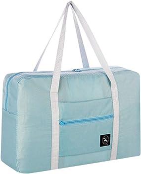 MINGLIFE Womens Canvas Weekender Bag in Trolley Handle