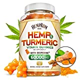 Hēmp Gummiēs with Turmeric & Bioperine 60000MG Hēmp Gummy for Pain and Stress Relief, Premium Healthy Inflammatory Support with 95% Standardized Curcuminoids 100% Natural Organic Turmeric Gummiēs