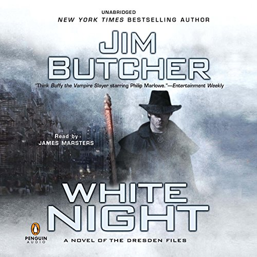White Night     The Dresden Files, Book 9              Written by:                                                                                                                                 Jim Butcher                               Narrated by:                                                                                                                                 James Marsters                      Length: 14 hrs and 12 mins     107 ratings     Overall 4.8