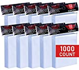 1000 Counts Card Sleeves Toploaders for Trading Card, Soft Clear Baseball Card Sleeves Fit for Football Card, Sports Cards, MTG, Yugioh, Pokemon Card