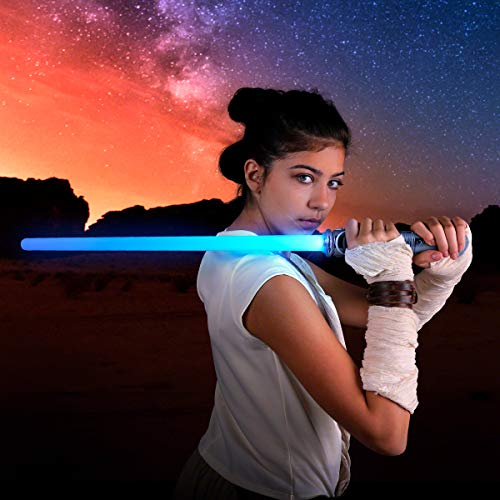 FlashingBlinkyLights LED Light Up Futuristic Saber Sword Toy Weapon with Motion Activated Sound