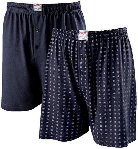 ADAMO Boxershorts im Doppelpack in dunkelblau (Navy) bis große Größe 20 = 8XL