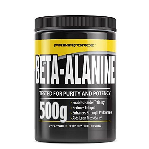 PrimaForce Beta Alanine Powder Supplement - Enhances Strength Performance / Reduces Fatigue, 500 Grams