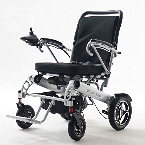 DPGPLP Electric Wheelchair Light Wheelchair, Foldable 29KG Electric Wheelchair, Electric Or Manual Wheelchair 15-20 Km Range, Aviation Aluminum Alloy