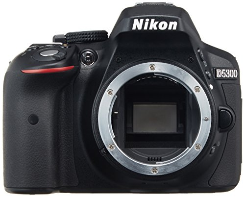 Nikon D5300 24.2 MP CMOS Digital SLR Camera with Built-in Wi-Fi and GPS Body Only (Black) - International Version (No Warranty)