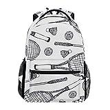 DXG1 - Mochila para mujer, hombre, adolescente y niña, color blanco, bolsa de deporte, para viaje, universidad, hombro, gran capacidad, 40,5 x 29 x 20 cm