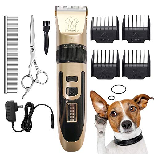 HahaGo Pet Grooming Clippers Dog Shaver Hair Trimmer Electric Fur Removal Cutter Rechargeable Haircut with LED Screen for Dogs Cats Pets