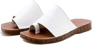 AUCDK Womens Comfy Platform Slippers Mules Flip Flops Clip Toe Slip on Wedge Sandals PU Leather Summer Beach Shoes