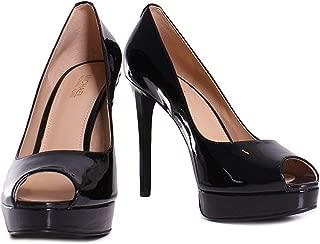 Michael Kors Womens Erika Leather Peep Toe Classic Pumps, Black, Size 9.0