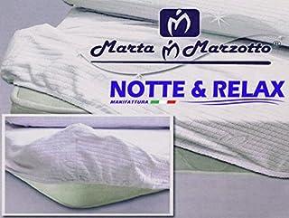 Marta Marzotto Jersey Coprimaterasso Marrone Cotone Rosso 175x200x0.4 cm