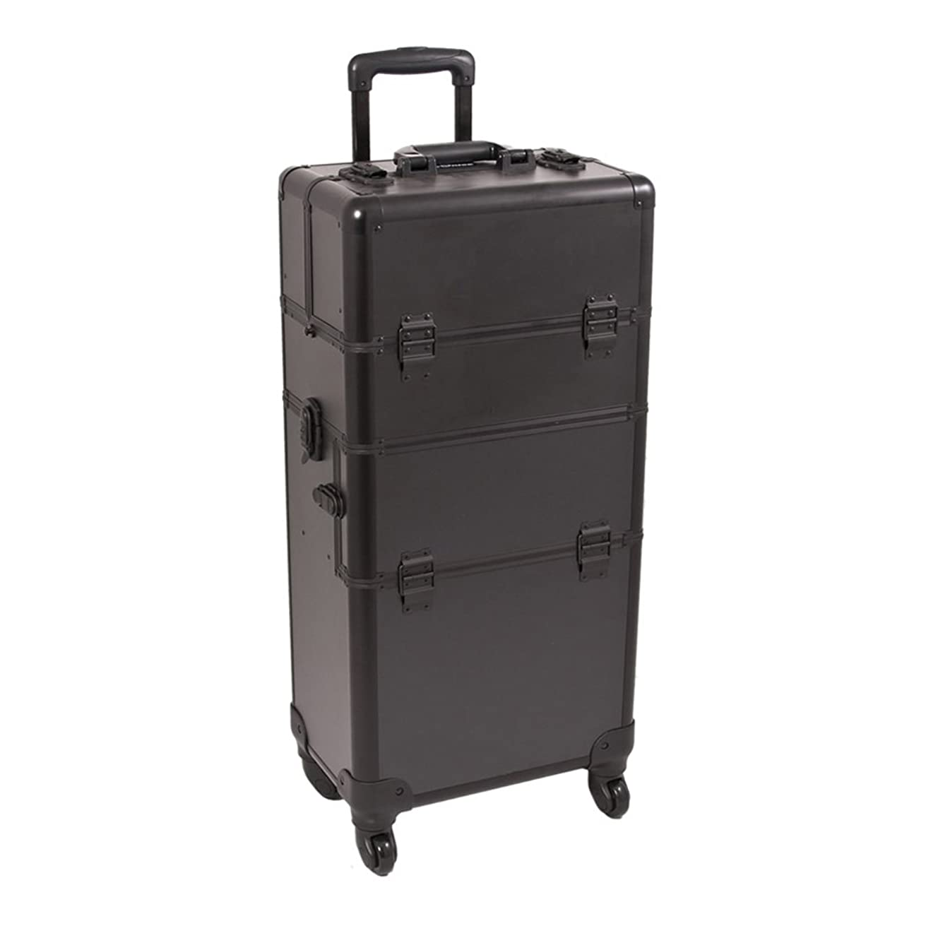 Craft Accents I3561 Smooth Trolley Craft/Quilting Storage Case, Black