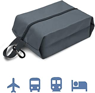 MAXTID Travel Shoe Bags with Luggage Belt & Carabiner Shoe Cover Portable (Grey-1)