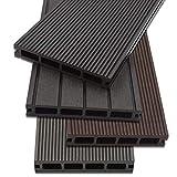 Home Deluxe - WPC Terrassendiele Dunkelbraun - Menge: 1 m² - Drei verschiedene Farben - Inkl. Unterkonstruktion und komplettem Zubehör